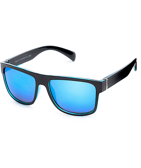 Zumiez Sunglasses  flat top black blue revo sunglasses at zumiez pdp