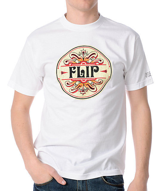 Flip Afterglow White Skate T-Shirt