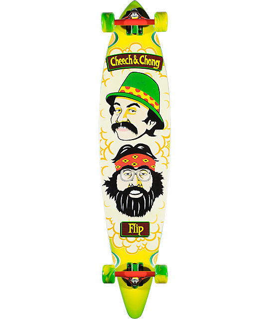 "Flip Cheech & Chong 43.5""  Pin Tail Longboard Complete"