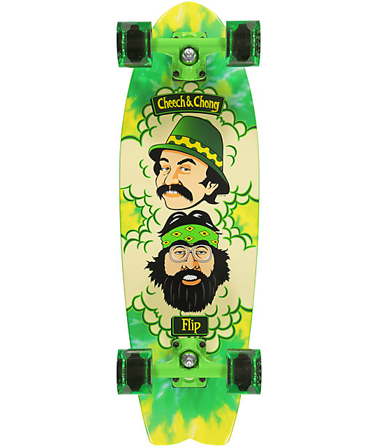 "Flip Cheech & Chong Green Room 27.7""  Cruiser Complete Skateboard"
