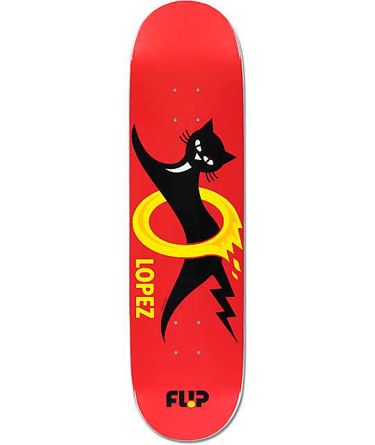 "Flip Lopez Black Cat 8.25""  Skateboard Deck"
