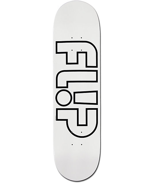 "Flip Odyssey White Out 8.0"" Skateboard Deck"