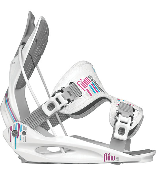 Flow Flight 2W White Womens Snowboard Bindings