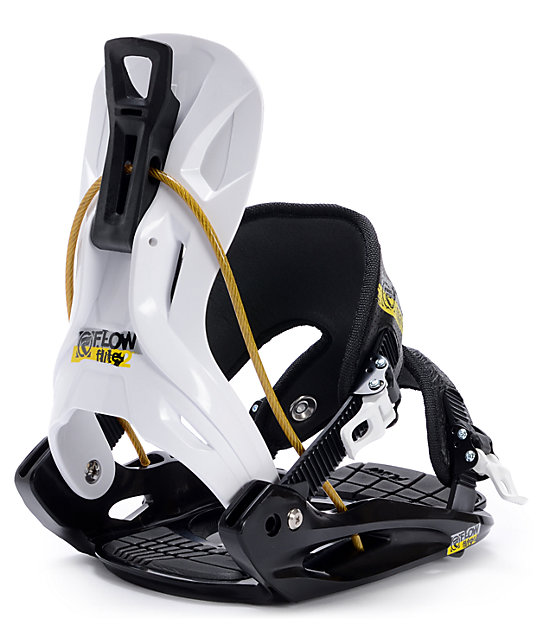 Flow Flite Black & White Snowboard Bindings