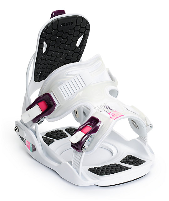 Flow Gem White Womens Snowboard Bindings