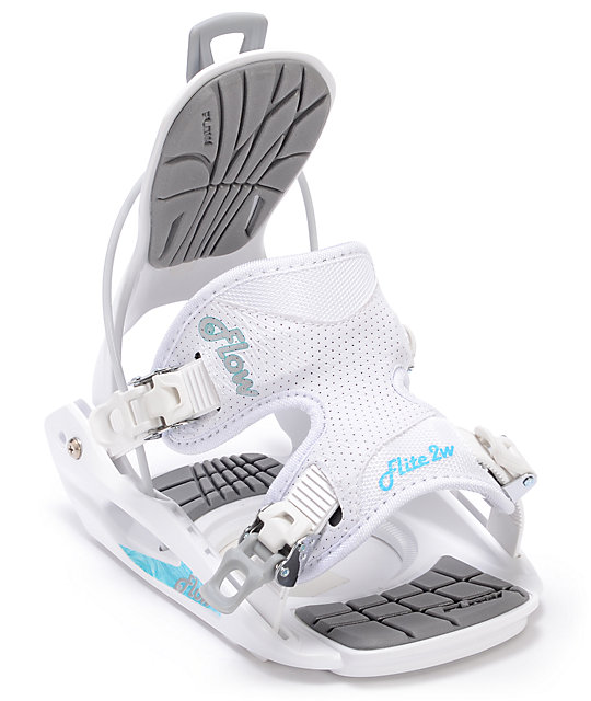 Flow Womens Flite White Snowboard Bindings