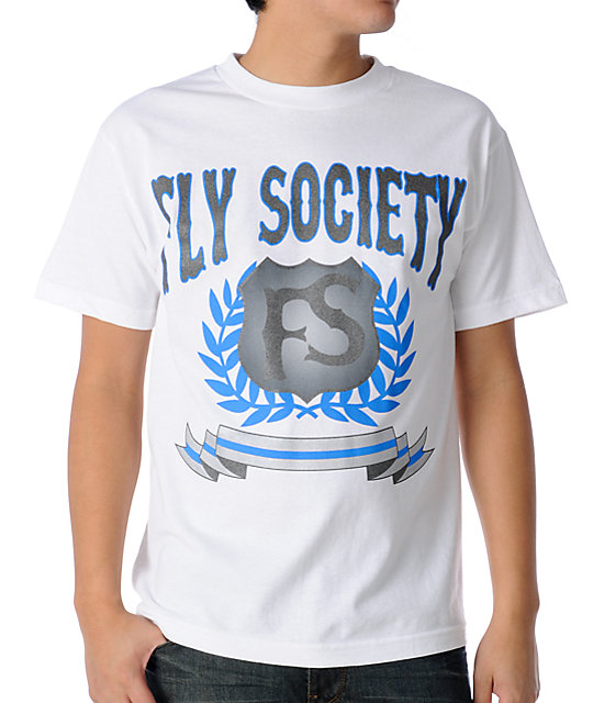 Fly Society D White T-Shirt