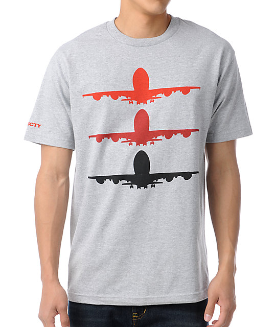 Fly Society Fade Grey T-Shirt