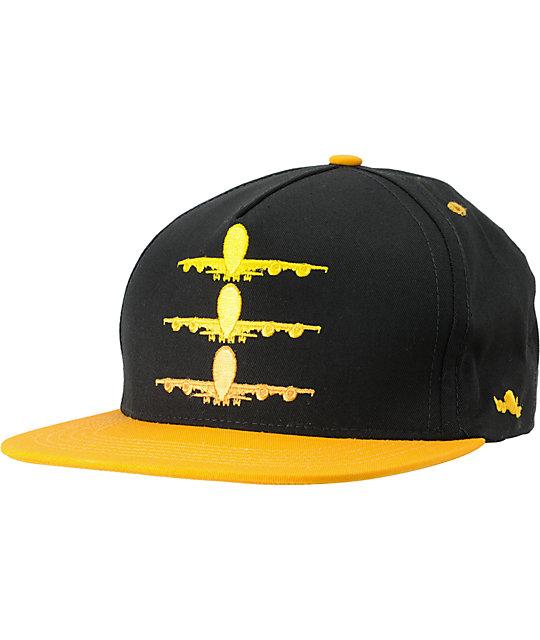 Fly Society Faded Yellow & Black Snapback Hat