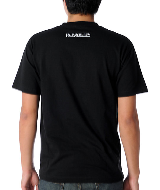 Fly Society Link Mens Black T-Shirt