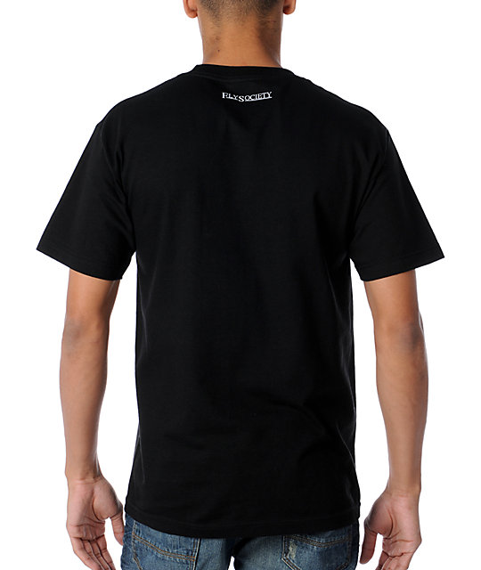 Fly Society Skywriter Black T-Shirt
