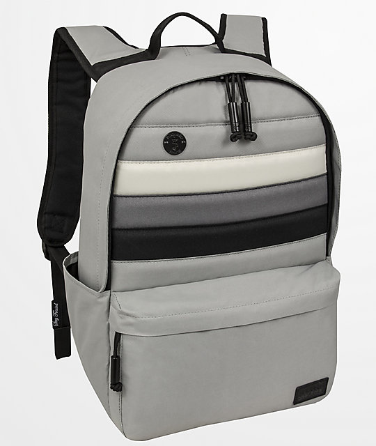 Focused Space Board Of Education Grey Stripe Backpack