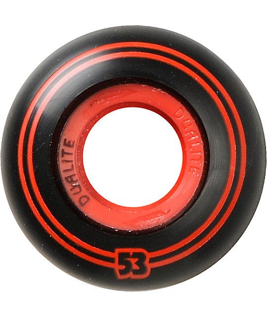 Form Dualite Black & Red 53mm Skateboard Wheels