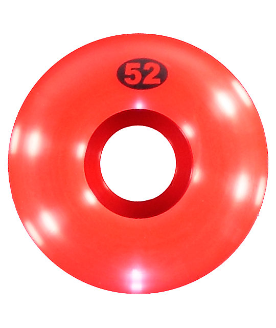 Form Red 52mm Skateboard Wheels