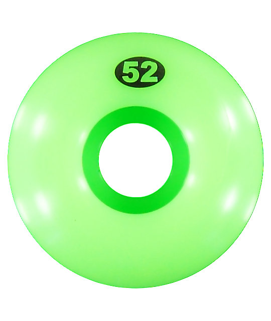 Form Solid Lime Green 52mm Skateboard Wheels