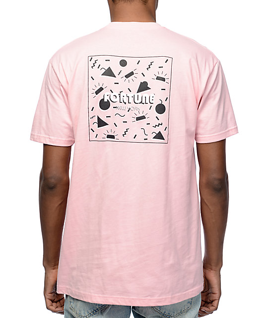 Fortune 70s Summer Pastel Pink T-Shirt at Zumiez : PDP