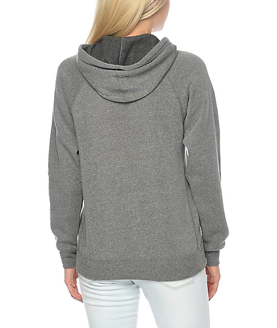 Forty Ninth Supply Co Get Lost sudadera gris con capucha