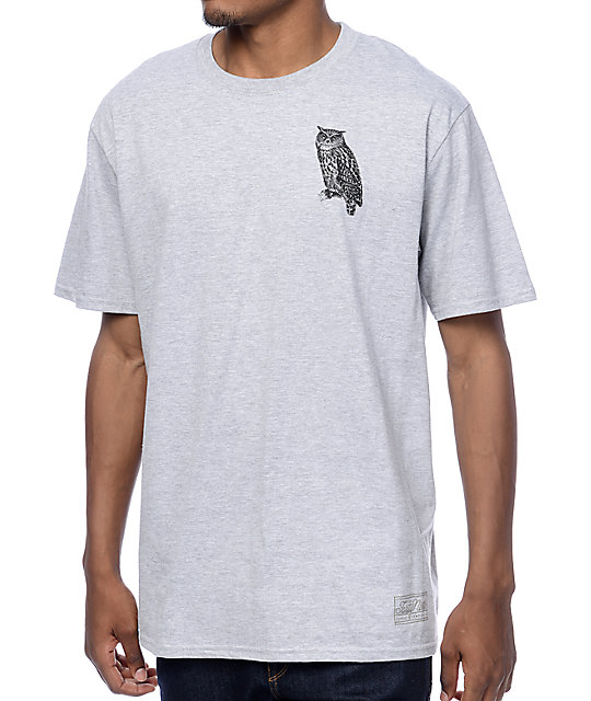 Forty Ninth Supply Co Night Owl Grey T-Shirt