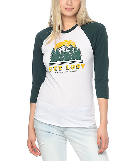 Forty Ninth Supply Co. Get Lost Forest Baseball T-Shirt