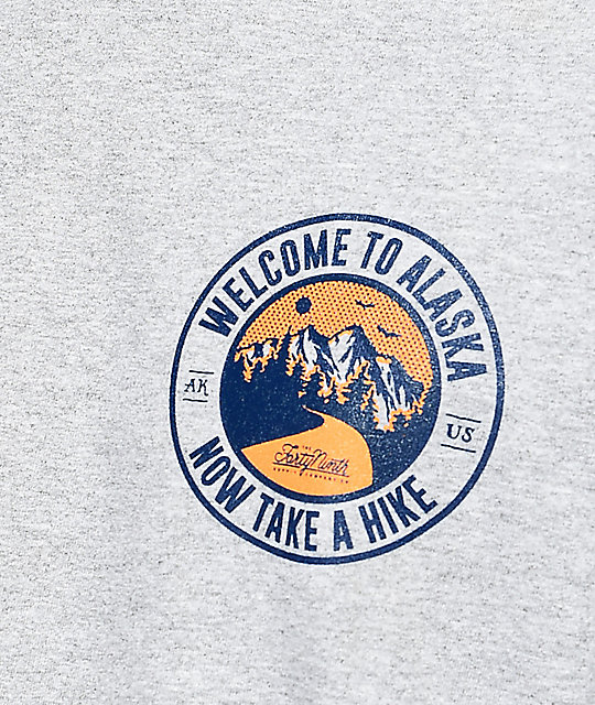Forty Ninth Supply Co. Take A Hike camiseta de manga larga en gris