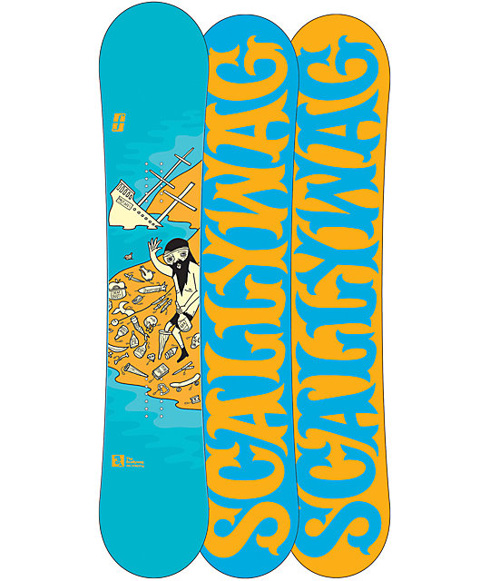 Forum Scallywag ChillyDog With Pop 155cm Mens Snowboard