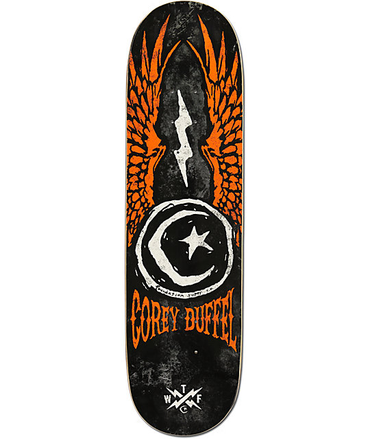 "Foundation Duffel Star & Moon Wings 8.12""  Skateboard Deck"