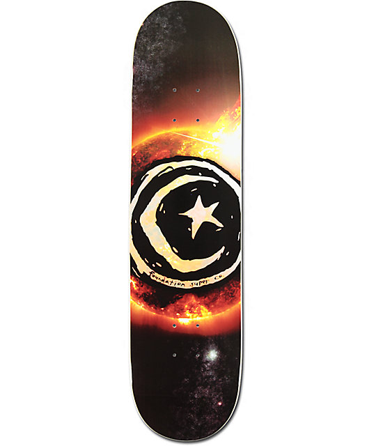 "Foundation Sun Flare 8.0""  Skateboard Deck"