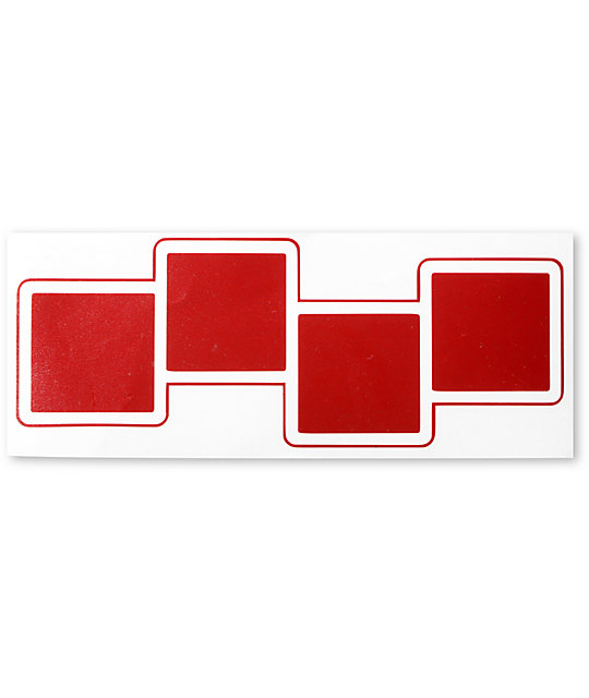 Four Square 4 Squares Red Die Cut Sticker