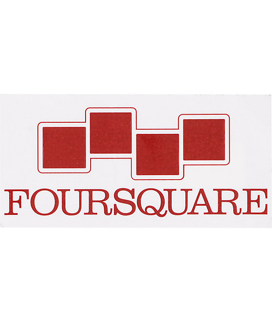 Four Square Icon Sticker