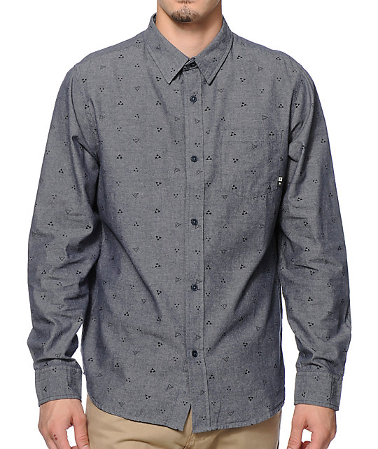 Calico Long Sleeve Button Up Shirt