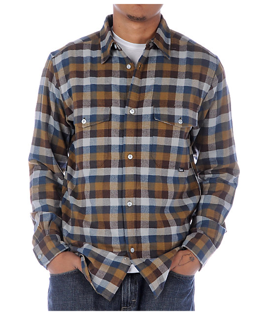 Fourstar Clothing Lealand Brown Flannel Shirt