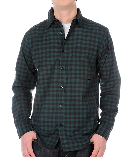 Fourstar Clothing Perris Hunter Green Woven Shirt