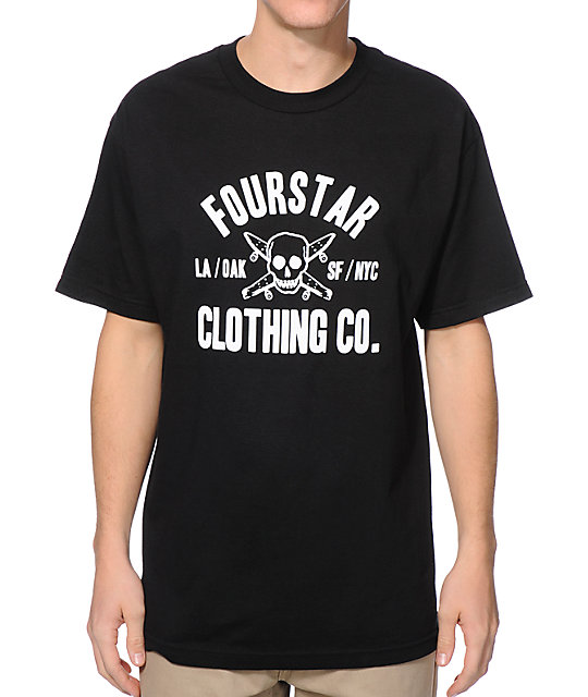 Fourstar Coach Standard Black T-Shirt