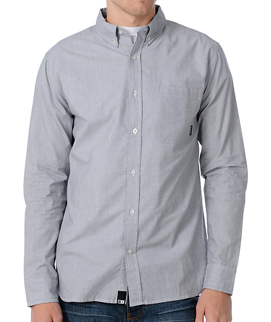 Fourstar Dawson Grey Railroad Stripe Woven Shirt