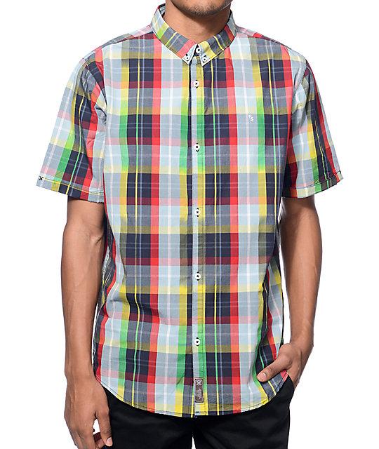 Fourstar Gonz Ikat Navy Button Up Shirt