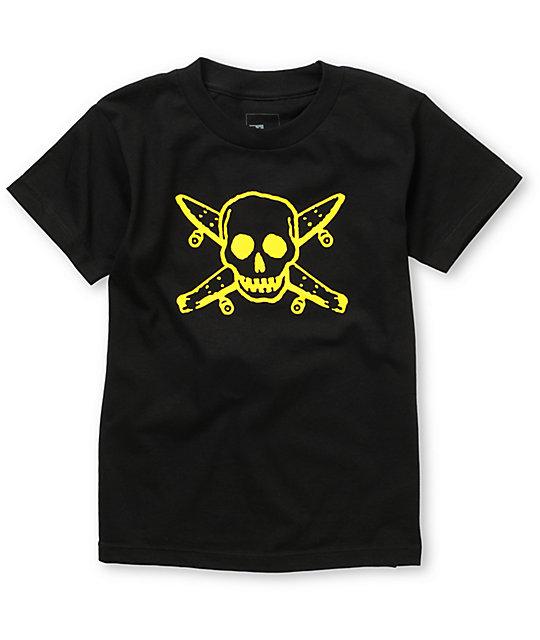 Fourstar Street Pirate Boys Black T-Shirt