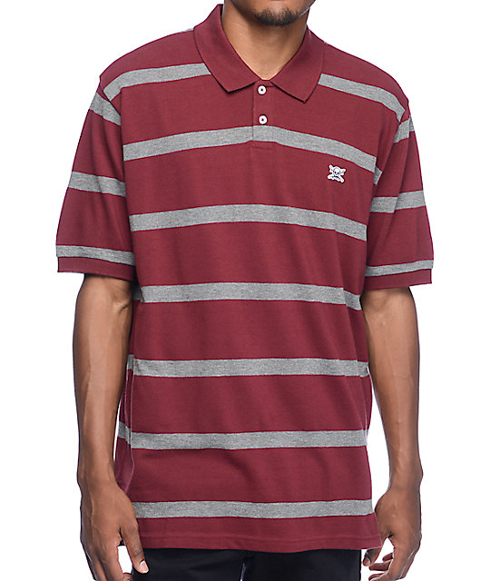 Fourstar stripe burgundy polo knit shirt zumiez Burgundy polo shirt boys