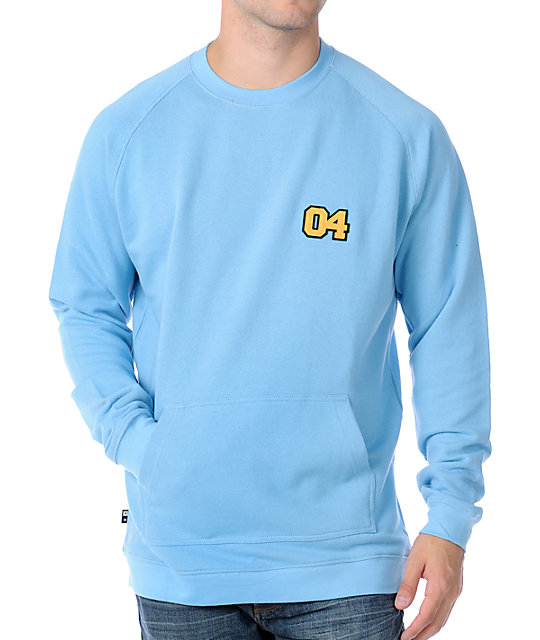 Fourstar Willow Carolina Blue Crew Sweatshirt