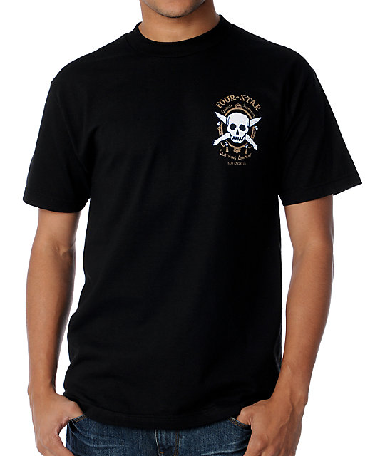 Fourstar Zig Zag Black T-Shirt