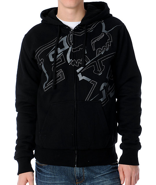 Fox Baseline Black Sherpa Zip Up Hoodie