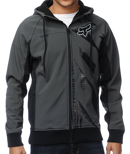 Fox Bionic Flipside Charcoal Tech Fleece Jacket