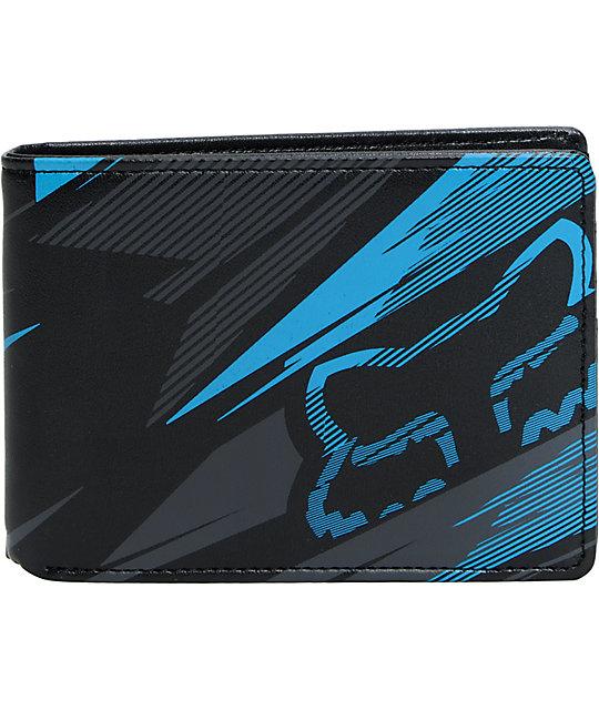 Fox Bionic Shards Black & Blue Bifold Wallet