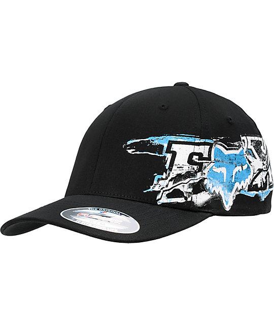 Fox Blackend Black Flexfit Hat