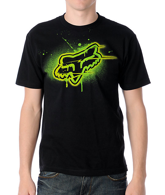 Fox Blamo Black & Green T-Shirt