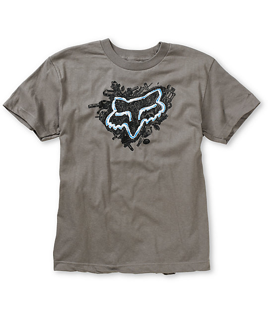 Fox Boys Collision Charcoal T-Shirt