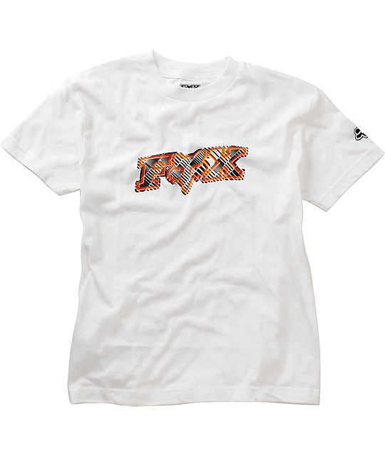 Fox Boys Digitized White T-Shirt