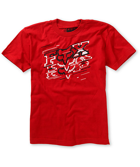 Fox Boys Hacker Red T-Shirt
