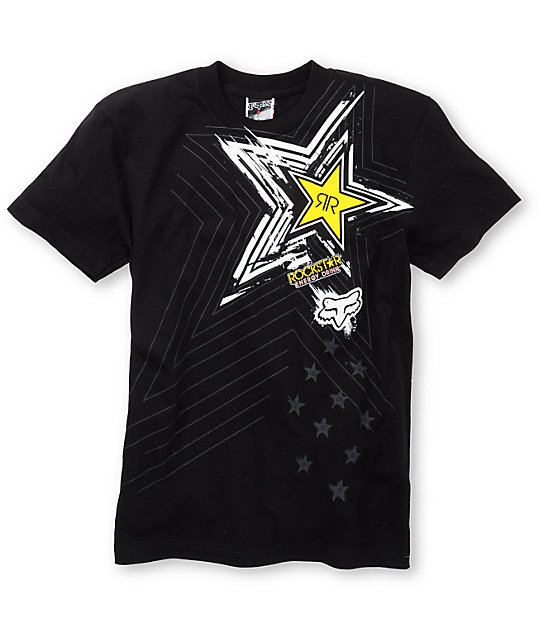 Fox Boys Pop Icon Black T-Shirt