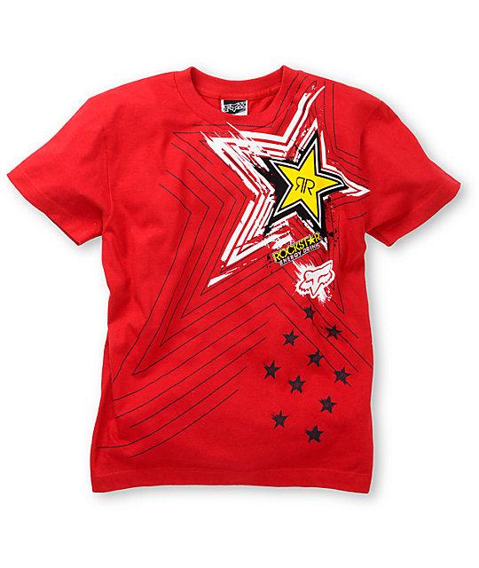 Fox Boys Pop Icon Red T-Shirt