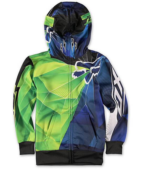 Fox Boys Radeon Face Mask Zip Up Hoodie